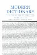 Modern dictionary for the legal profession