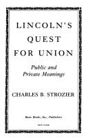 Download Lincoln's quest for union