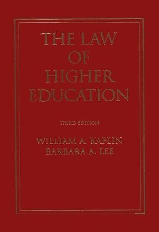 Download The law of higher education