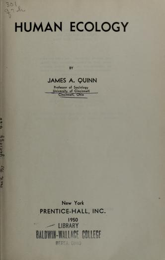 Human ecology by Amos Henry Hawley