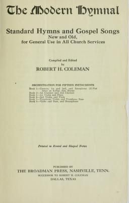 Cover of: The Modern hymnal   Robert H. Coleman