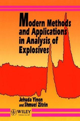 Modern Methods and Applications in Analysis of Explosives by Jehuda Yinon, Shmuel Zitrin